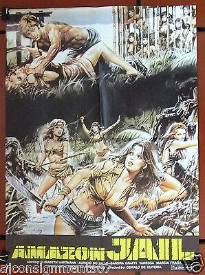 Amazon Jail  Elizabeth Hartmann  18 X26  Original Lebanese Movie Poster 80S