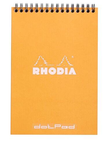 Rhodia Wirebound Notebook 6 x 8 Dot Pad Orange