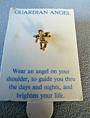 GUARDIAN ANGEL SMALL GOLD TONE SHOULDER ANGEL COLLECTIBLE PIN ON - Small Angel Pin