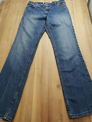 Womens Harley Davidson Jeans Pants Boot Cut Medium Wash Denim 30 1/2 x 33 1/2