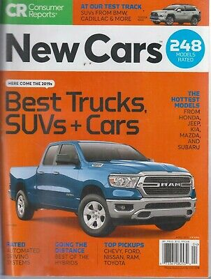 Consumer Reports April 2019 Best Trucks, SUVs & Cars Models