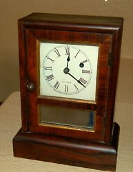 Rare Seth Thomas Miniature Mantel Clock, Time Only, Runs And Looks Great