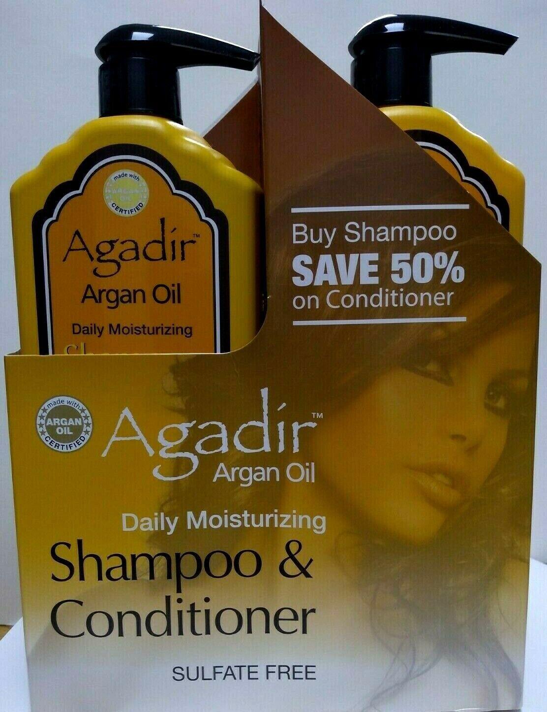 Agadir Daily Shampoo and Daily Conditioner Duo 33 oz