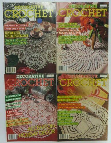 Vintage Lot DECORATIVE CROCHET Magazines Patterns Instructions Issues 3, 4, 5, 6
