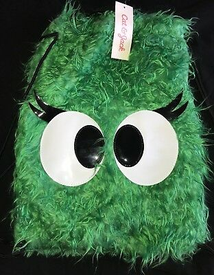 boys girls GREEN HAIRY BACK PACK EYEBALLS HALLOWEEN NEW NWT CAT & JACK MONSTER @ - Hairy Boys
