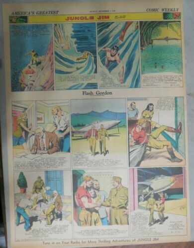 Flash Gordon Sunday by Alex Raymond from 9/7/1941 Large Full Page Size !