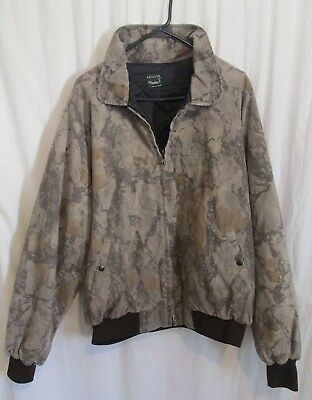 Men's Natural Gear Brown Full Zip Lined Camo Jacket Fits Size L-XL