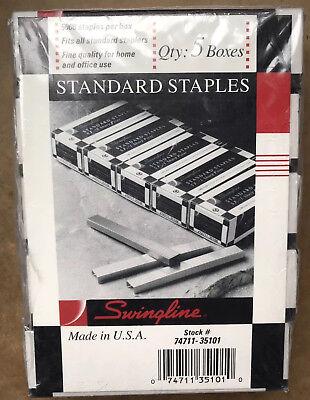 Swingline Sf1 Standard Staples Lot Of 5 Boxes 5000 Per Box
