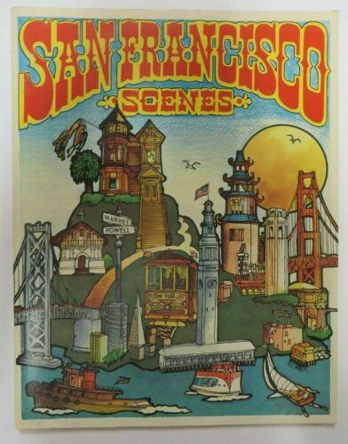 Vintage 1972 SAN FRANCISCO SCENES Coloring Book Troubador Press  NEW OLD STOCK