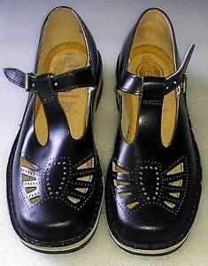 NEW CLARKS HARRISON School Shoes Sz 4.5 Black T bar Leather Shoes Melbourne CBD Melbourne City Preview