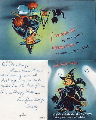 1960's HALLOWEEN GREETING CARD, HALLMARK, MADE IN U.S.A. A HALLOWEEN - 1960s Halloween Cards