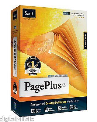 Serif PagePlus X6 Professional Desktop Publishing DTP PDF Editor Ebooks Software