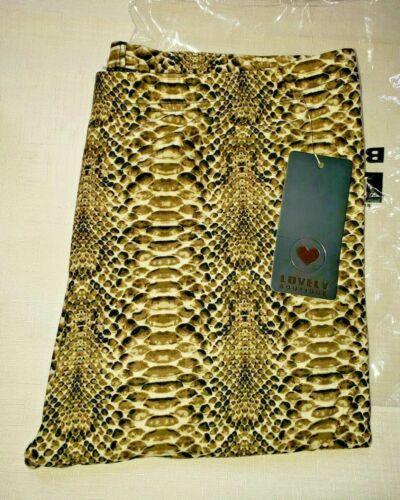 Womens Plus 2-3x Soft Comfy Snakeskin Leggings Stretch Snake Print Pants - New!