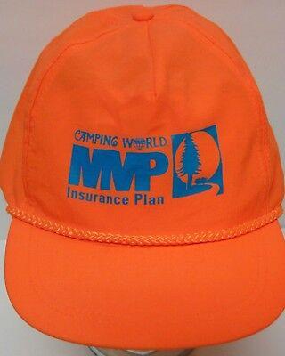 Vtg 1990s CAMPING WORLD MVP INSURANCE RV Campers Advertising SNAPBACK NYLON HAT ()