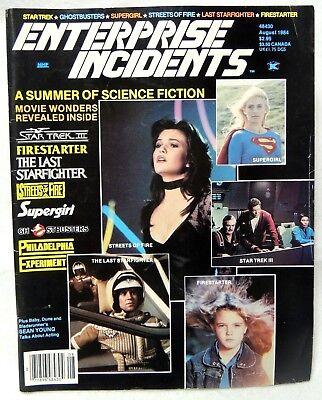 ENTERPRISE INCIDENTS Dec. 1984-Star Trek Ghostbusters Supergirl Firestarter