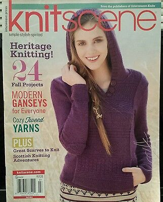 Knitscene Fall Projects Ganseys Tweed Yarn Scarves Fall 2014 FREE SHIPPING - Fall Projects