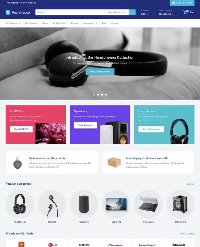 Warehouse Shopify Theme