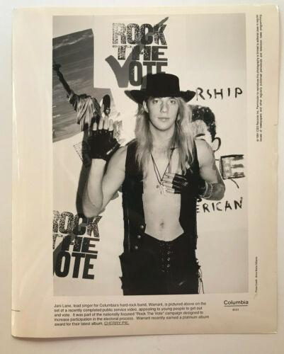 Jani Lane Warrant Rock the Vote 1991 Photo by Anna Maria DiSanto B&W 8x10 Print