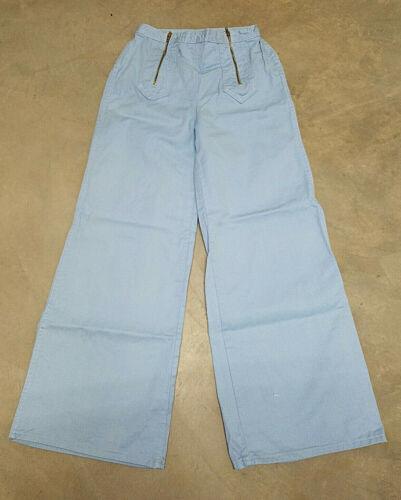 VTG* 70s* Sears JR Bazaar* sky blue bell bottoms* size VTG 13* sailor cut* EUC*
