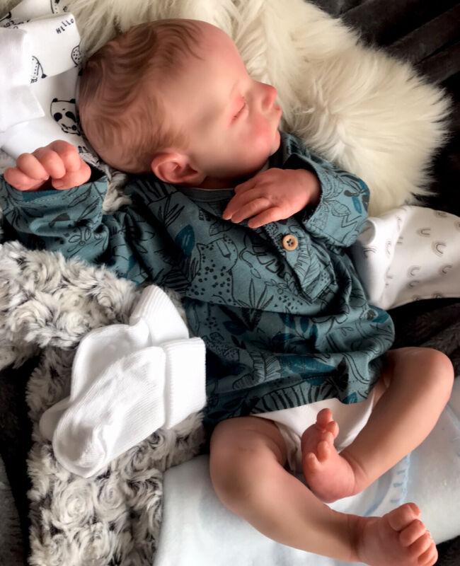 Beautiful Sleeping REBORN BABY DOLL. Leo
