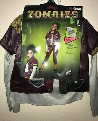 DISNEY'S ZOMBIES ELIZA HALLOWEEN COSTUME size medium 7/8 jacket Z band CUTE PLAY