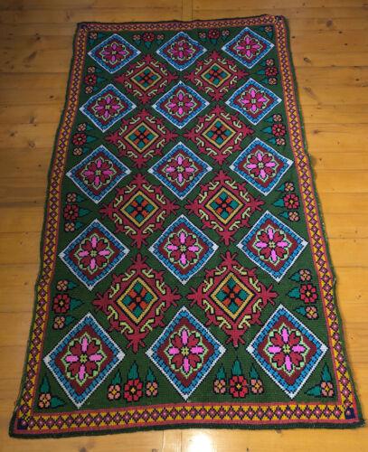 Old Embroidered Ukrainian Carpet kilim Rug handmade (№871)
