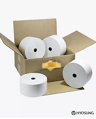 Nautilus Hyosung Tranax Atm Thermal Paper 8 Rolls Standard Weight 318
