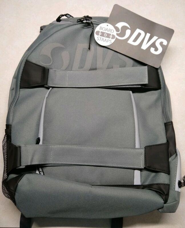 Dvs Shoe Co Skate Backpack Gray New Laptop Sleeve Haul Board 30L Skater