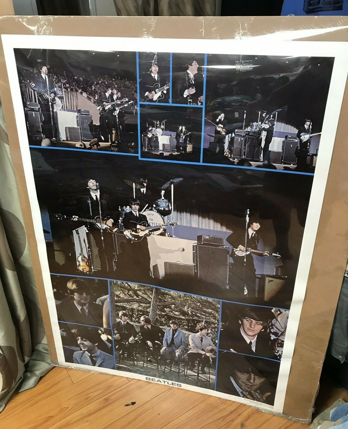 The Beatles 1976 Rock And Roll Large Collage One Stop