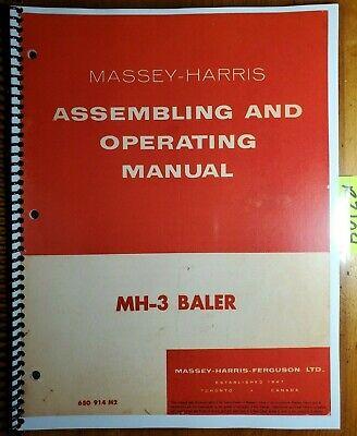 Massey Harris Ferguson Mh-3 Mh3 3 Baler Owner Operators Manual 650 914 M2 1156