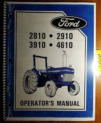Ford 2810 2910 3910 4610 4610su Tractor 1984-85 Owner Operator Manual Se4346a S