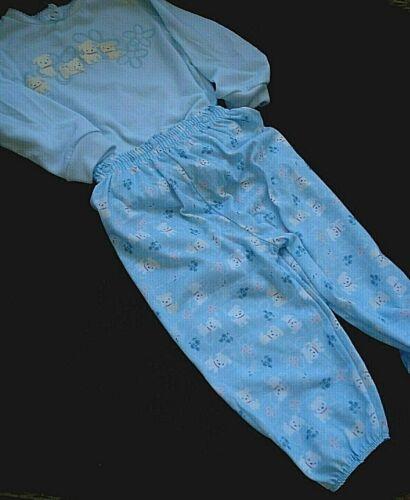 Vintage Carter's Girls Long Sleeve Lightweight Two Piece Snap Pajamas Size 18 Mo