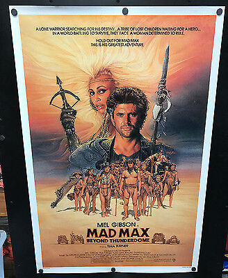 Original 1985 MAD MAX BEYOND THUNDERDOME Advance One Sheet Movie Poster Rolled - $45.00