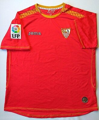 5/5 Sevilla Away football shirt 2008~2009 ORIGINAL SOCCER JERSEY JOMA image