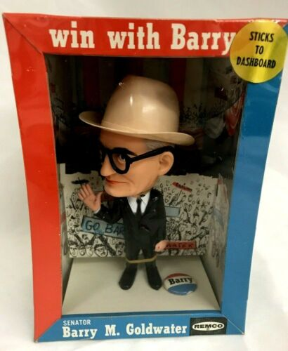 VINTAGE REMCO 1964 SENATOR BARRY M. GOLDWATER FIGURE DOLL BOXED w/POLITICAL  PIN