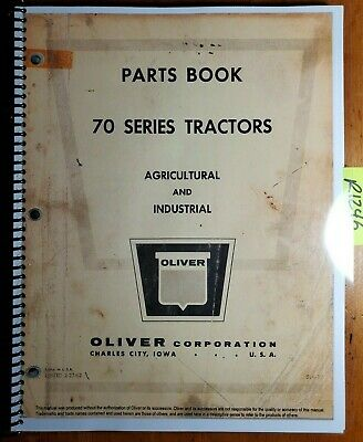 Oliver 70 Row Crop Standard Industrial Tractor Parts Book Catalog Manual 1962