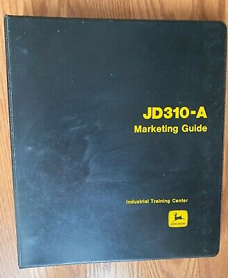 John Deere 310-a Tractor Loader Backhoe Marketing Guide Sales Dealer Specs