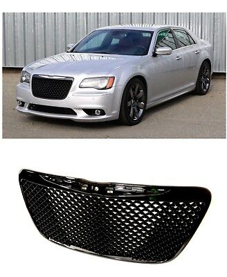 Fits 2011 2015 Chrysler 300 Gloss Black Grille Mesh Bentley Grill SRT Style Bentley Style Mesh Grille