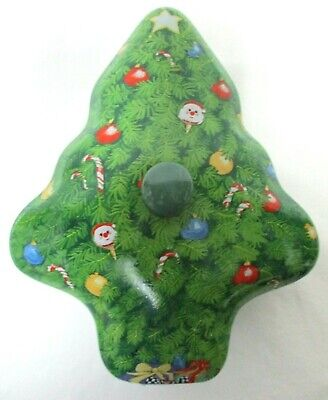 See's Candies Christmas Tree Candy Dish ceramic ornaments Santa stars Lidded