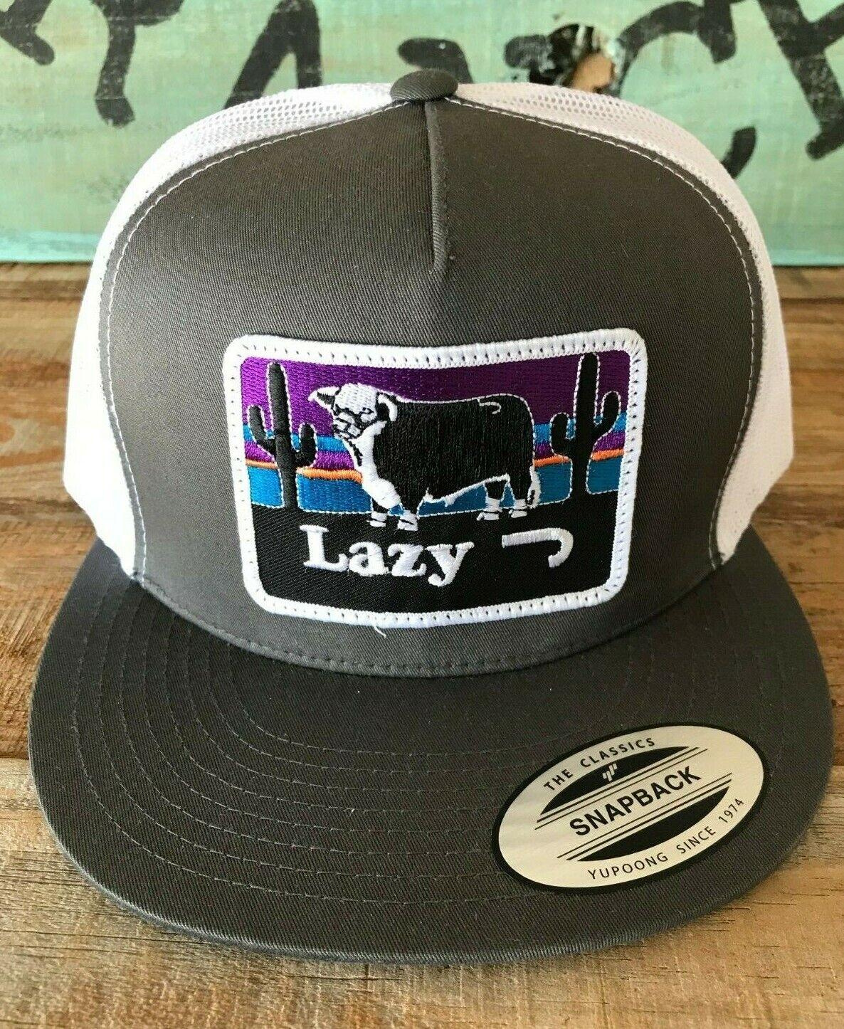 Lazy J Ranch Wear Black and White Serape Elevation Yupoong Snapback