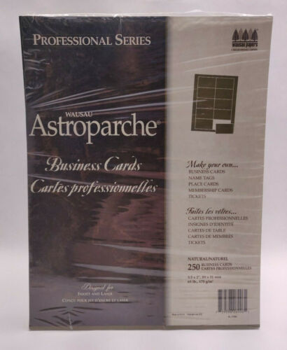 "Wausau Professional Astroparche Business Cards - 250 Count - Natural 3.5"" x 2"""