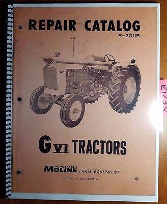 Minneapolis-moline Gvi G-vi G Vi G6 Tractor Repair Parts Catalog Manual R-2011b
