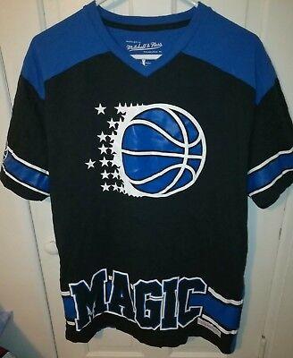 3a111aad634 VTG Orlando Magic Mitchell   Ness NBA Mens Large V-Neck Shirt Jersey Shaq  Penny