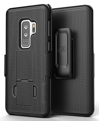 Samsung Galaxy S9 Plus Belt Clip Holster Case, Black Shell Combo - Encased