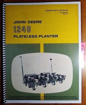 John Deere 1240 Plateless Planter Sn -17811 Owner Operator Manual Om-b25457 68
