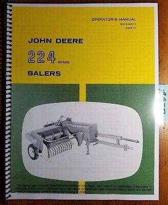 John Deere 224 Series 224ws 224t Baler Owner Operator Manual Om-e42677 F7 667