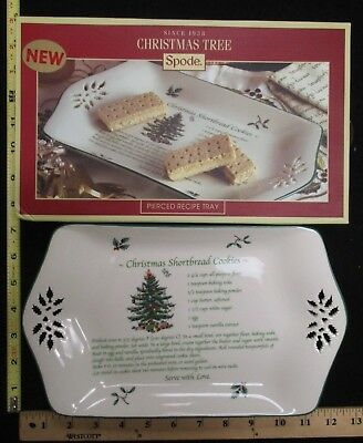 Spode Portmeirion Christmas Tree Pierced Recipe Tray Dish Shortbread Cookies   ()