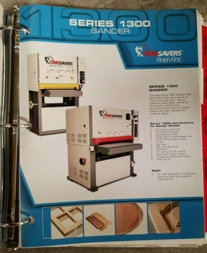 Timesavers Woodworking Wide Belt Sales Catalog Pricing, brochure Binder Nov 2005