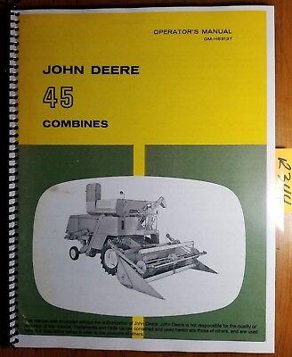 John Deere 45 Combine Sn 46001- Owners Operators Manual Om-h63137 K6 1166