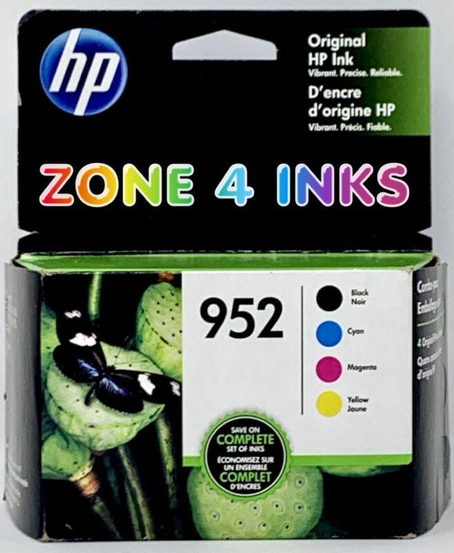 4-PACK GENUINE HP 952 Black 952 Color Ink OFFICEJET PRO 8710 Set 2021